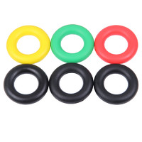 KYLIN 硅膠握力圈 O型橡膠圈 指力訓練器 健身握力器 橡膠圈 手指訓練器 黑色50磅