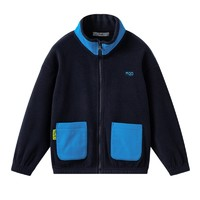 MQD 马骑顿  儿童撞色立领摇粒绒保暖外套