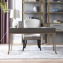 卫诗理轻奢美式写字台实木书桌椅简约现代收纳电脑桌家用家具C7