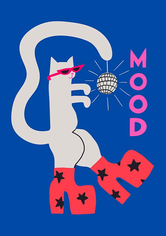 旧金山女艺术家阿莉·怀尔德  情绪猫 Mood Cat