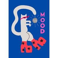 艺术品:旧金山女艺术家阿莉·怀尔德  情绪猫 Mood Cat