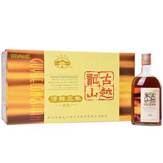 古越龙山 绍兴黄酒 花雕酒糯米酒 清醇三年 半甜型 500ml*12瓶 整箱装