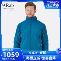RAB睿坡Shadow男士防风轻量透气弹力耐磨抓绒软壳帽衫425g QFE-85