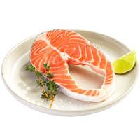佳沃鲜生 智利轮切三文鱼排 (大西洋鲑)精品中段 200g