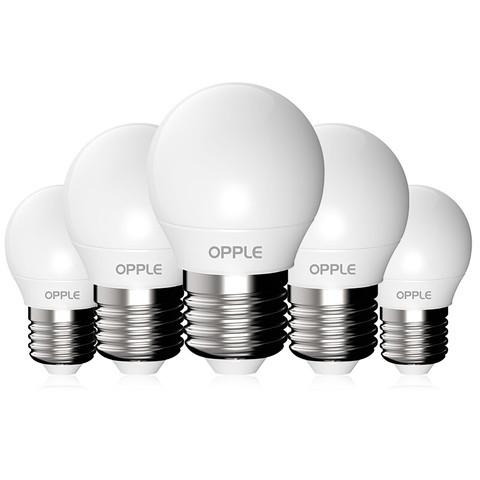 OPPLE 欧普照明 E27螺口灯泡 白光 五只装