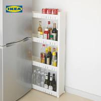 IKEA宜家LARSOLE劳希乌勒宽储物架置物架带脚轮