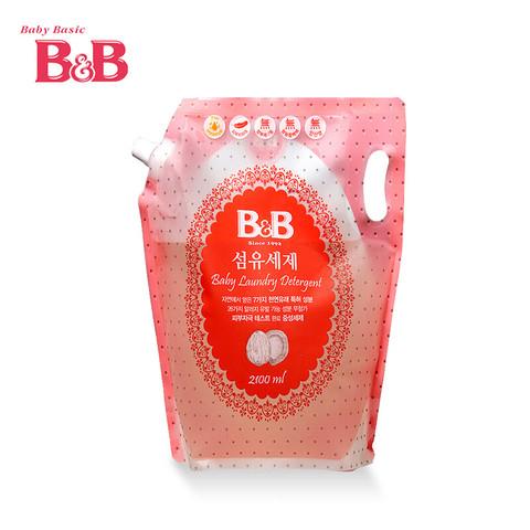 京东PLUS会员:B&B 保宁 婴幼儿服装洗衣液 袋装 2100ml