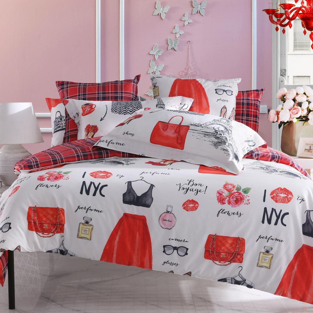 Dohia 多喜爱 40支印花亲肤四件套 床单款 1.5m