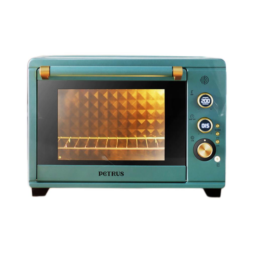 PETRUS 柏翠 petrus)电烤箱 38L家用 搪瓷内胆 上下独立控温 热风多功能PE3040GR