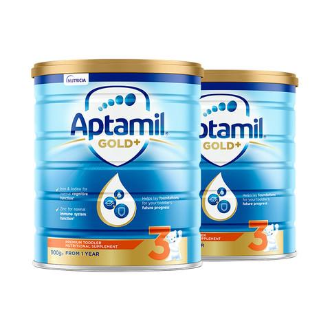 女神超惠买、考拉海购黑卡会员:Aptamil 爱他美 金装 婴儿配方奶粉 3段 900克*2罐
