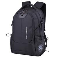 瑞士軍刀雙肩包男士背包17英寸大容量休閑商務旅行包電腦包女韓版學生書包