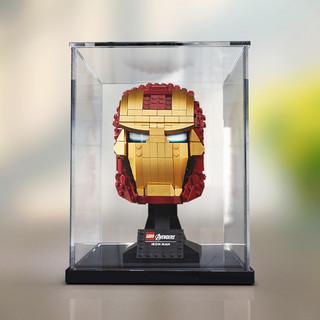 佳寻展示盒 乐高76165钢铁侠头盔亚克力透明盒子防尘罩手办收纳盒