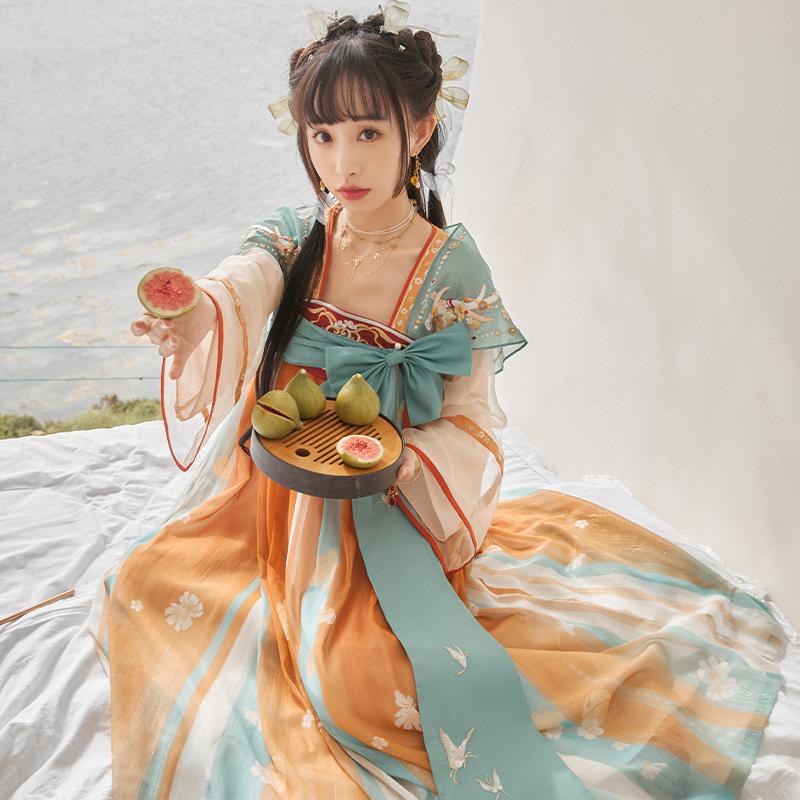 十三余 王者荣耀联名款 汉服 瑶遇见神鹿 女士长袖连衣裙 SGF141732