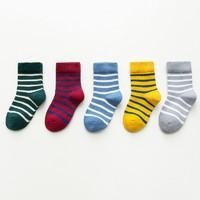 馨颂 儿童中筒袜子 5双装