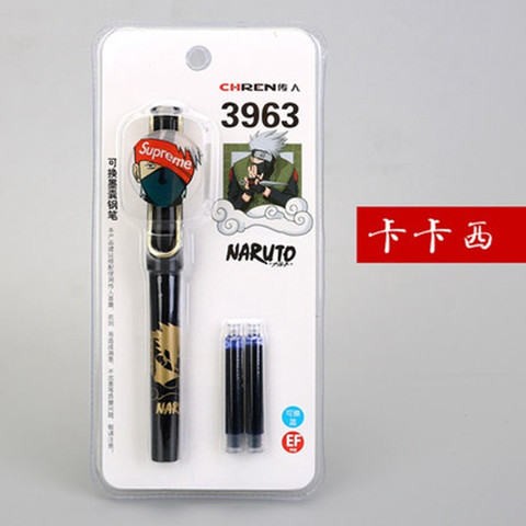 传人3963卡装钢笔火影忍者卡通动漫 *2件