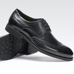 Sheridan喜来登 男士皮鞋 英伦风雕花驼鸟纹系带布洛克