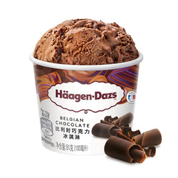 哈根达斯 比利时巧克力口味 冰淇淋 100ml *5件