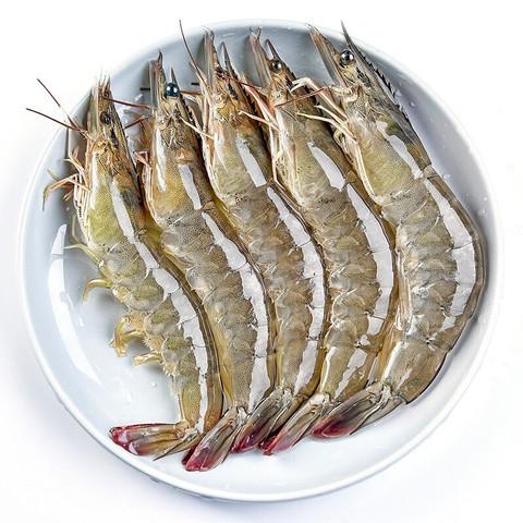 寰球渔市大虾 国产大虾 白虾 基围虾 海鲜水产生鲜 虾类 活虾速冻超大 净重300g(约30-40只) *3件