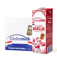 Globemilk 荷高 脱脂纯牛奶 1L*6 *2件
