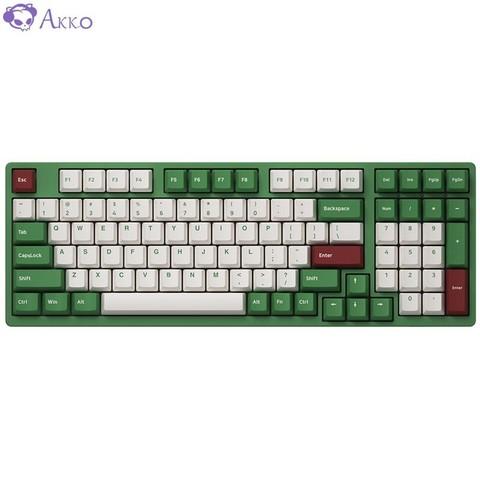 AKKO 3098 DS 红豆抹茶 98键机械键盘 AKKOv2 粉轴 *4件