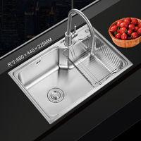 移动专享:ANNWA 安华 不锈钢水槽 单槽 58*43cm