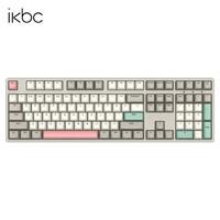 iKBC C210 108键 有线机械键盘 红轴 工业灰