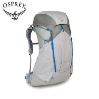 OSPREY 白熊45L户外登山包 轻质款背包徒步旅行男款双肩包LEVITY 银白色 S