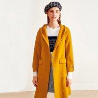 伊芙丽 女士中长款羊毛双面呢大衣