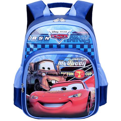 迪士尼(Disney)汽车总动员儿童书包男小学生书包 麦昆汽车卡通轻便学生双肩背包 SD10034藏青