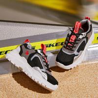 斯凯奇女鞋子网面绑带时尚撞色运动鞋女运动休闲鞋女鞋子