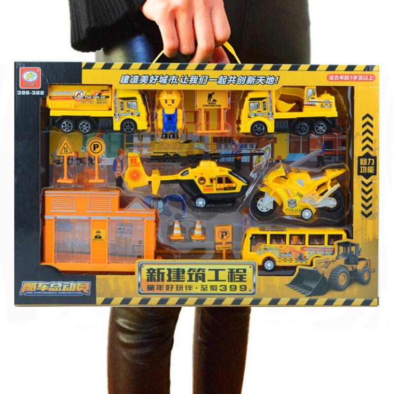 贝利雅 回力工程车系列 盒装工程车
