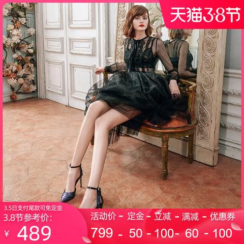 roberta诺贝达女鞋时尚细高跟后空宴会凉鞋铆钉轻奢一字带RM67216