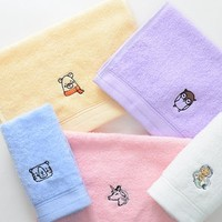grace 洁丽雅 儿童纯棉毛巾 5条装
