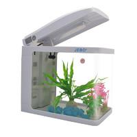 JEBO佳宝   鱼缸水族箱居家懒人 QR128裸缸标配(LED灯+泵)