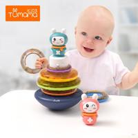 音乐早教不倒翁玩具摇铃叠叠乐套圈电动声光婴儿玩具