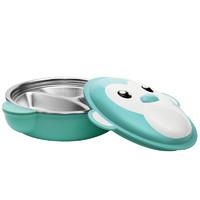 泰福高 儿童餐具 注水保温碗 不锈钢宝宝分隔餐盘 300ML薄荷绿 *2件