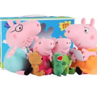 小豬佩奇玩具毛絨公仔禮盒套裝抱枕玩偶佩琪