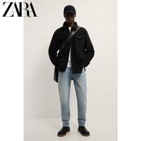 ZARA  09870670800  男装法兰绒衬衫式夹克外套