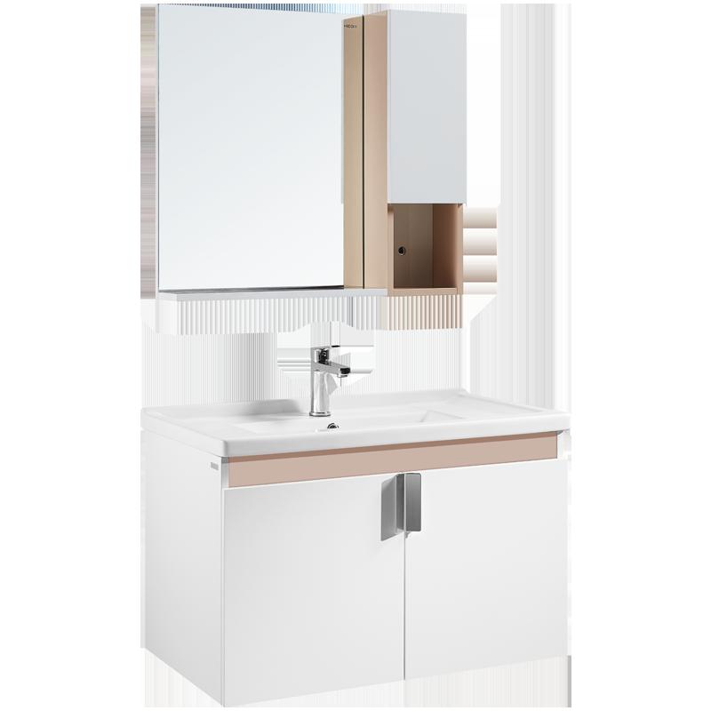 HEGII 恒洁卫浴 6019N 现代简约浴室柜组合 80cm带侧柜 (不含龙头及配件)
