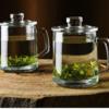 Scybe 喜碧 加厚耐热玻璃透明泡茶杯带盖 380ml 买一送一