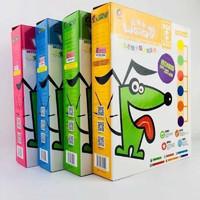 君偕逻辑狗 幼儿园早教材家庭全套 5本书+操作板