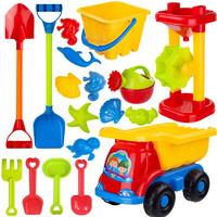 儿童沙滩玩具套装 沙滩桶加铲 9件套