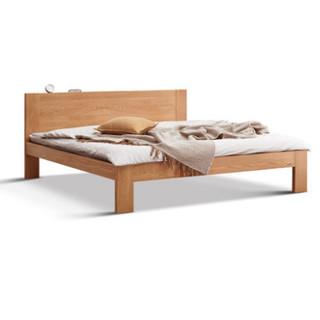 5日0点 : YESWOOD 源氏木语 B3701 现代简约白橡木床 1.0m