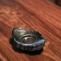 祥福 日式金属茶碟 茶具配件