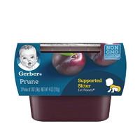 嘉宝(Gerber)星星泡芙 美国进口婴儿宝宝儿童零食磨牙 一段西梅泥 2*56g *6件
