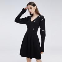 cocoon 可可尼 9040002523020 羊腿袖针织连衣裙