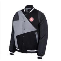 新款男子针织夹克舒适保暖运动外套