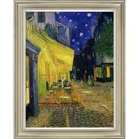 橙舍 美式餐厅玄关油画 欧式客厅风景画油画 梵高 星空下的咖啡厅