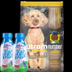 纽顿nutram狗粮   T28小型犬鳟鱼配方犬粮6kg +真致牛奶2瓶