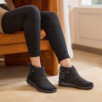 轻质舒适一脚蹬短靴女款运动雪地靴高帮鞋
